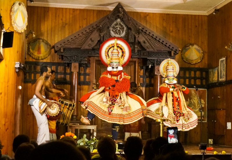 Kathakali traditional dance performance on stage in Kochi, Kerala