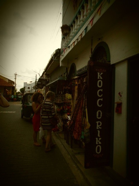 One of the many souvenir shops in Galle.