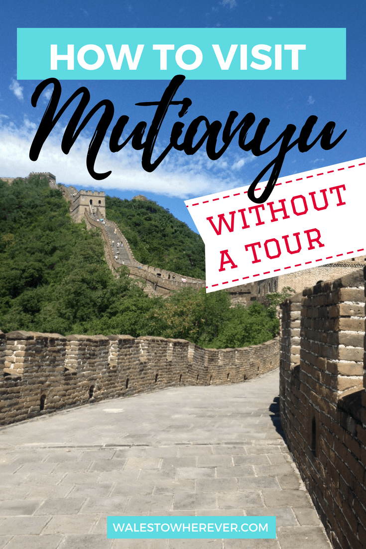 Mutianyu is one of the most accessible parts of the Great Wall of China from Beijing! Read this post to find out how to get there without a tour. #China #GreatWallOfChina #ChinaTravelGuide #Beijing #Mutianyu #MutianyuGreatWall | China on a budget | Great Wall of China on a budget | 7 Wonders of the World