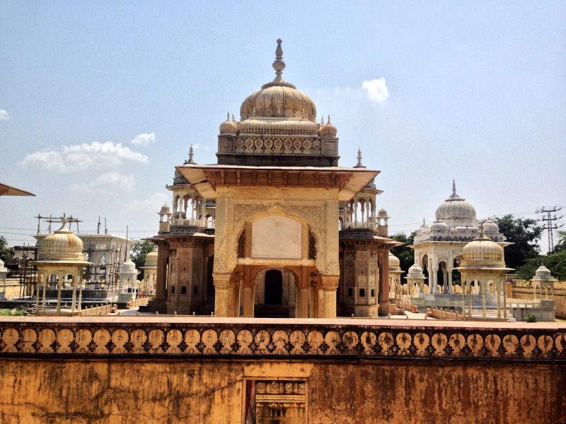 Royal Gaitor tombs can be found just outside of the main city of Jaipur in Rajasthan, India