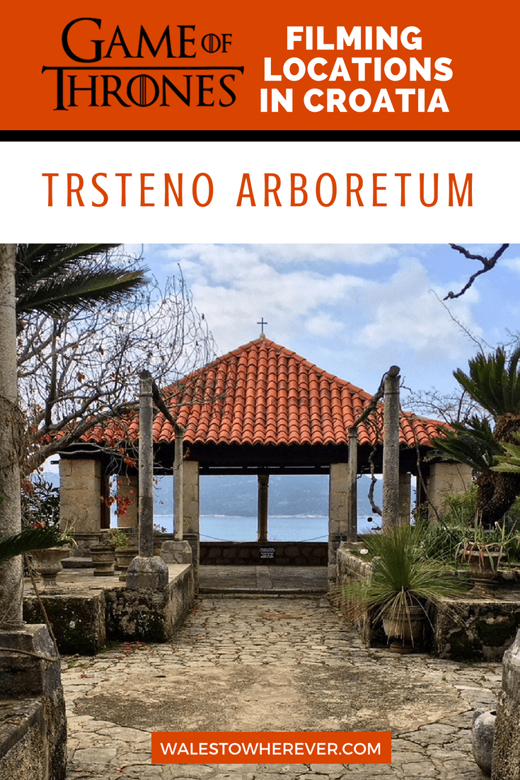 Looking for Game of Thrones filming locations in Croatia? Situated just outside the city of Dubrovnik, Trsteno Arboretum was used as the Palace Gardens of the Red Keep. This guide will tell you all you need to know about how to get there, how much it costs and more. #Croatia #Trsteno #GameOfThrones