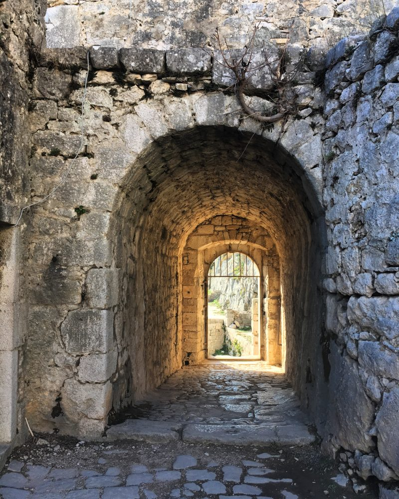 Getting to Klis Fortress from Split can be a bit of a hassle, but seeing the original construction such as this archway at the fortress makes it worthwile