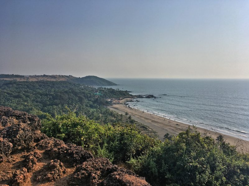 goa's coastal view looking out from chapora fort