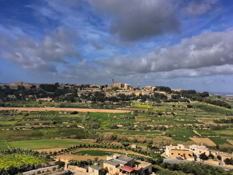 The view of the next town from Mdina