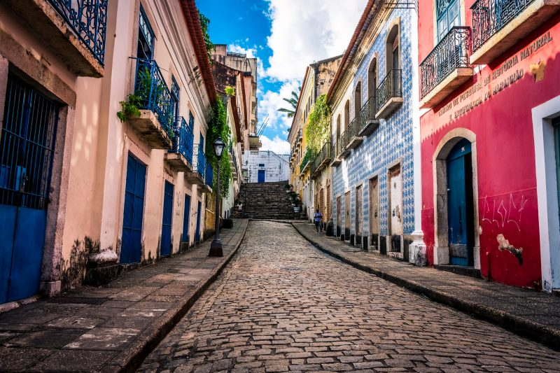 The colourful streets of the UNESCO heritage site, the Historic Centre of São Luís