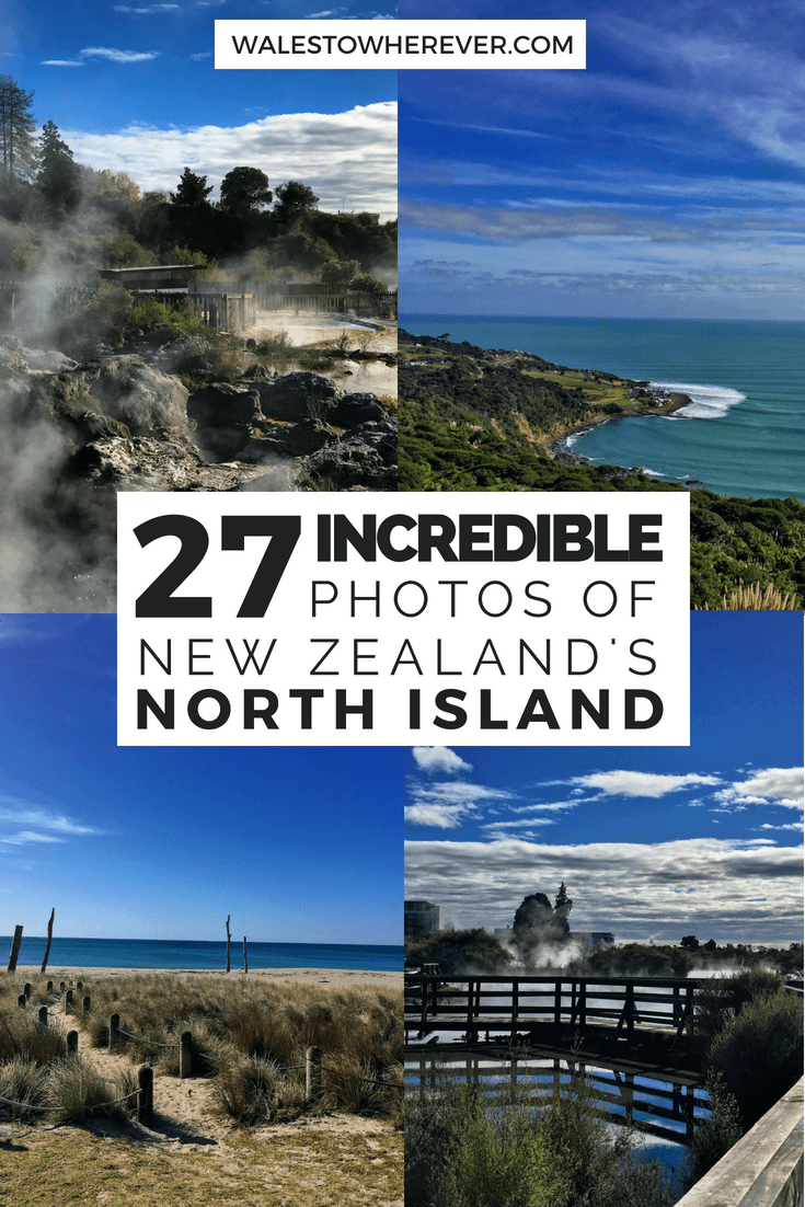 If New Zealand is on your bucket list but you aren't sure what the North Island has to offer, check out this article for 27 amazing photos of the North Island that'll have you booking your flight faster than you can say Whakarewarewa. #NewZealand #PureNewZealand #NorthIsland
