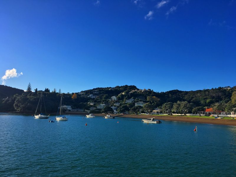 boats docked at Russell in the Bay of Islands
