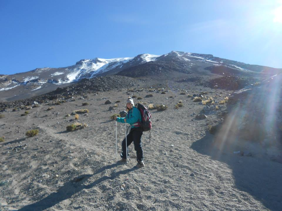Hiking Mt Misti in the sun - one of the most exhilirating things to do in Arequipa
