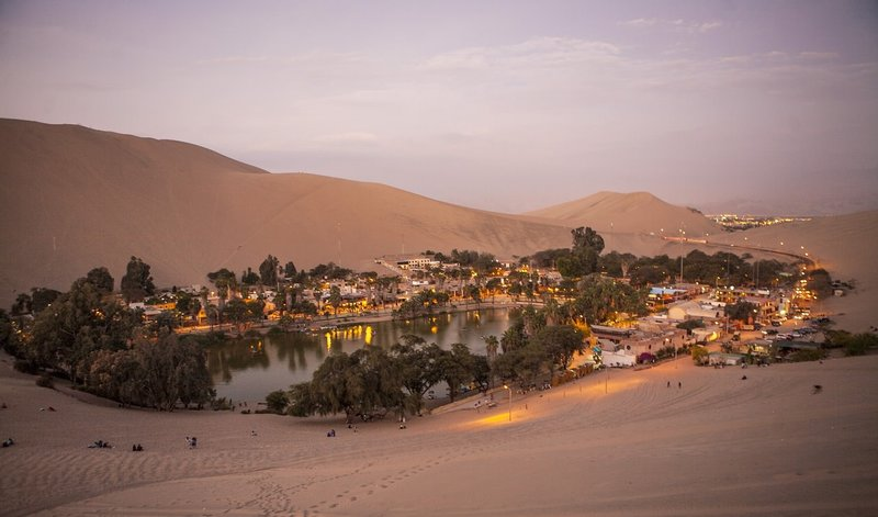 he desert oasis of Huacachina is one of the best places in Peru for partying, away from the hustle and bustle of the cities. Make sure to stop by during your two week Peru trip.