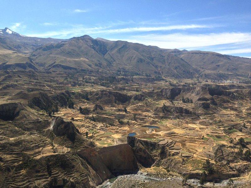 Incredible view across the Colca Valley as part of the Colca Canyon tour, one of the best things to do in Arequipa