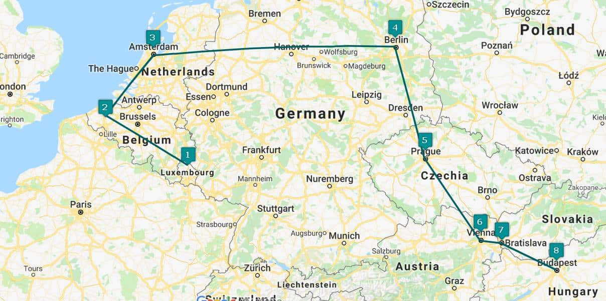 an epic 3 week interrailing route for europe: 8 cities in 21 days